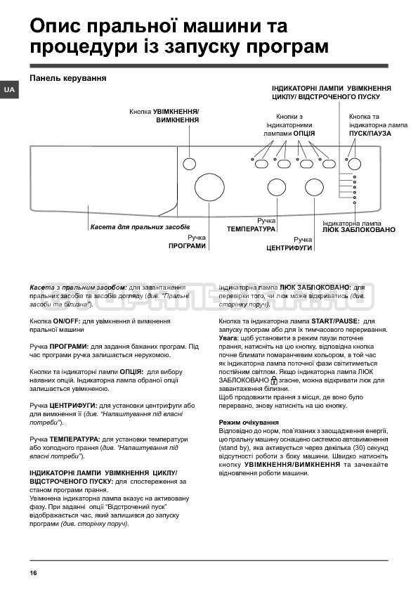 Инструкция Indesit IWSC 6105 страница №16