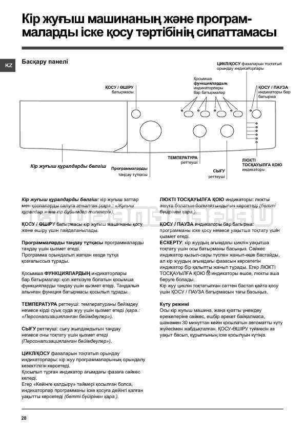 Инструкция Indesit IWSC 6105 страница №28