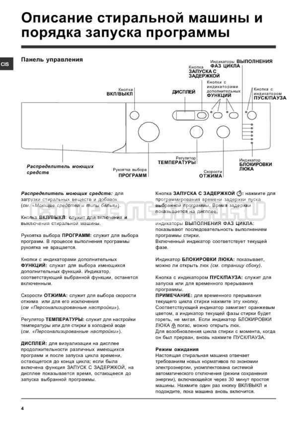 Инструкция Indesit IWSD 5085 страница №4