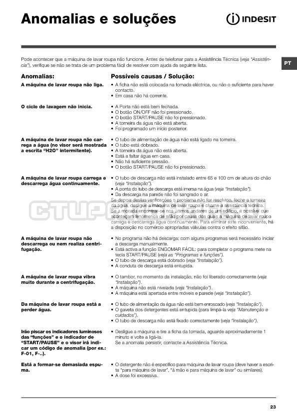 Инструкция Indesit IWTE 71280 ECO страница №23