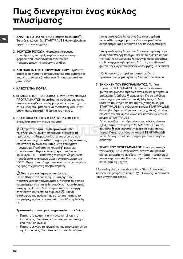 Инструкция Indesit IWTE 71280 ECO страница №32
