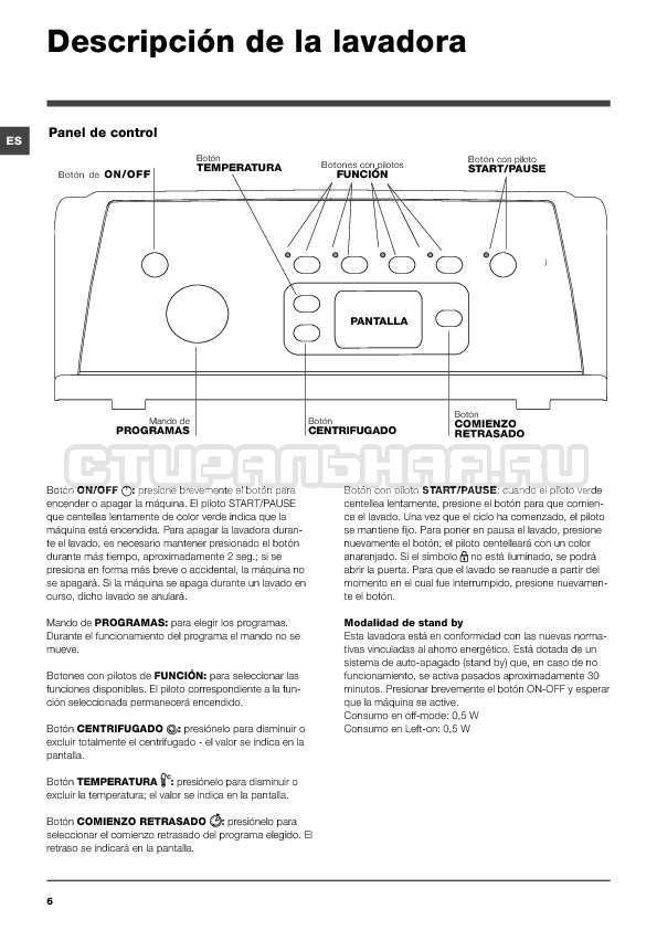 Инструкция Indesit IWTE 71280 ECO страница №6