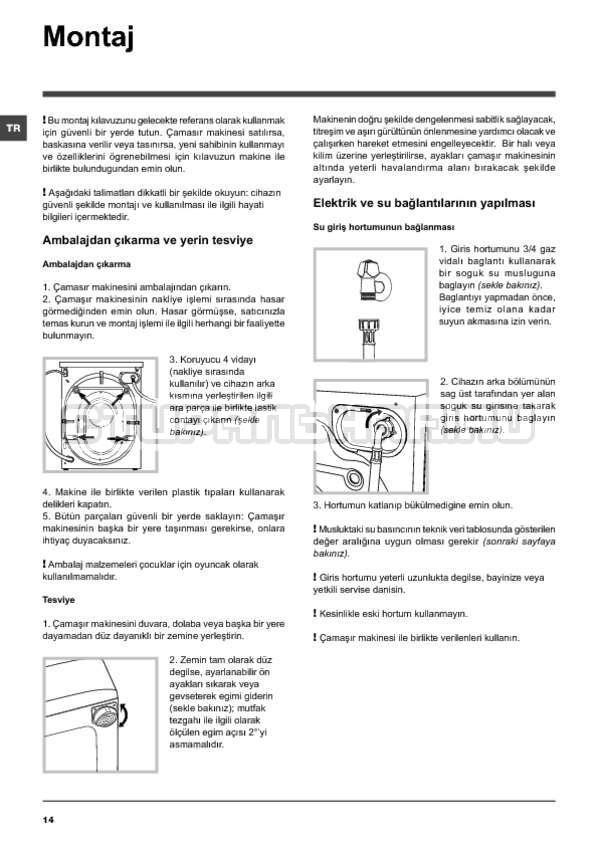 Инструкция Indesit PWE 91273 S страница №14