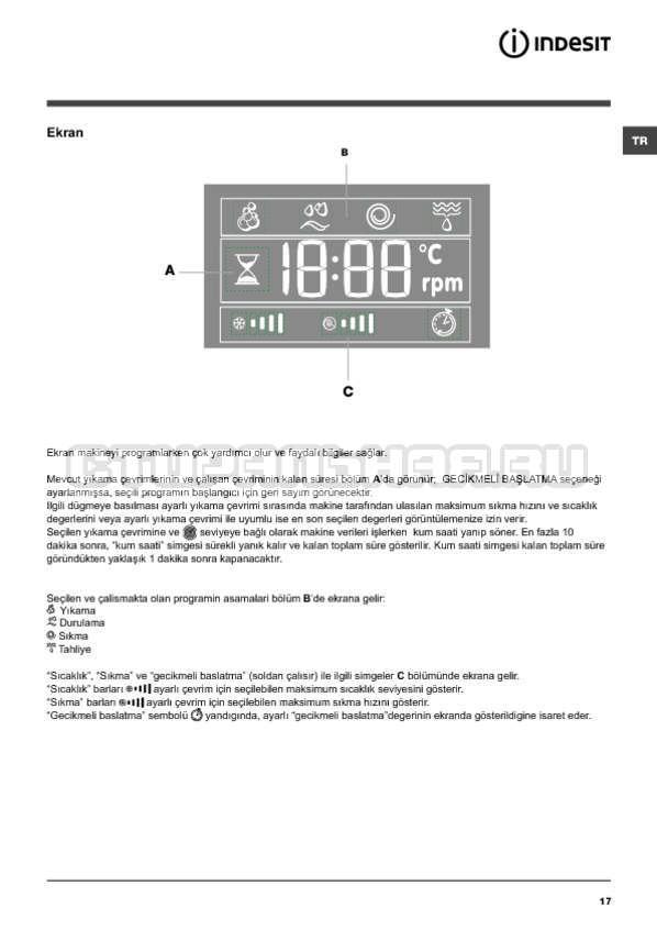 Инструкция Indesit PWE 91273 S страница №17