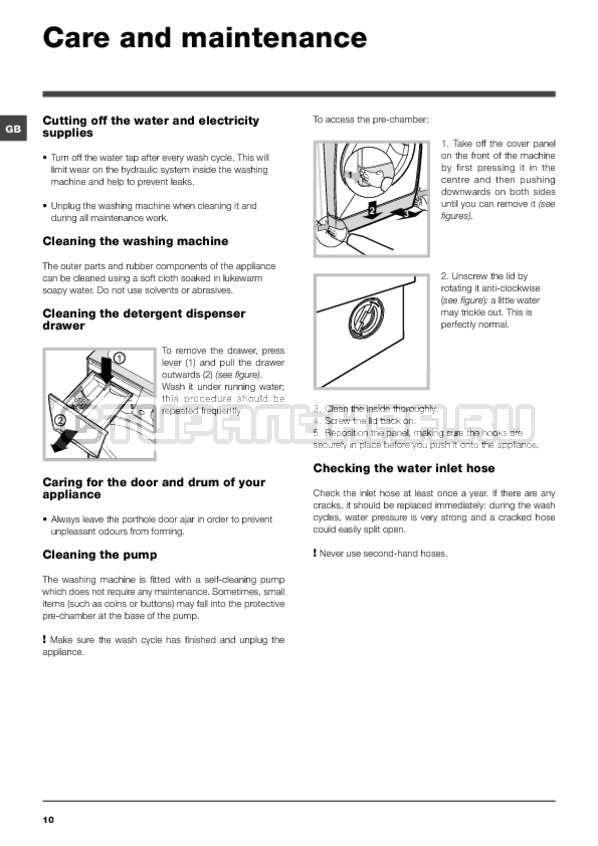 Инструкция Indesit PWE 91273 S страница №10