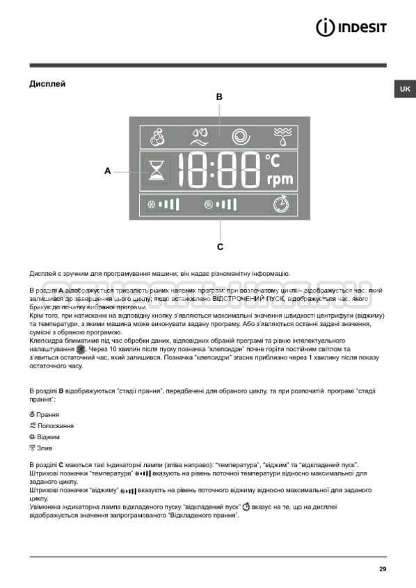Инструкция Indesit PWSE 6104 W страница №29