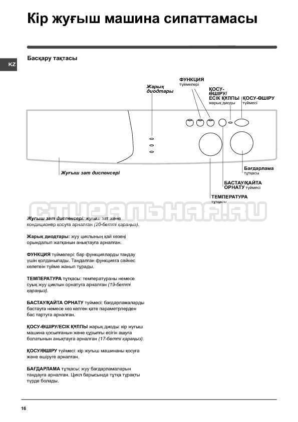 Инструкция Indesit WISN 82 страница №16