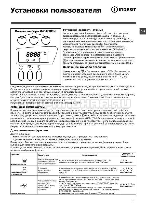 Инструкция Indesit WITE 1077 страница №7