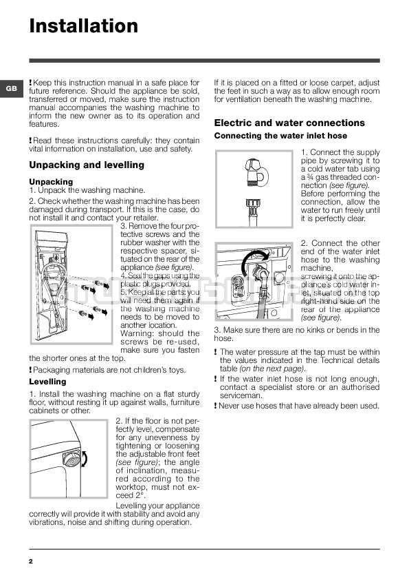Инструкция Indesit WITXL 1051 страница №2