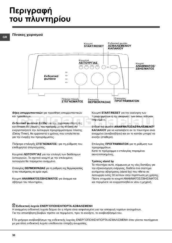 Инструкция Indesit WITXL 1051 страница №30