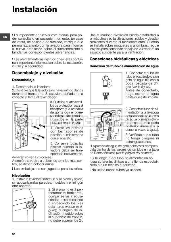 Инструкция Indesit WITXL 1051 страница №38