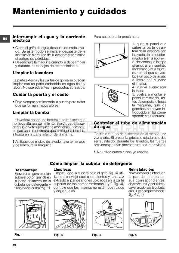Инструкция Indesit WITXL 1051 страница №40