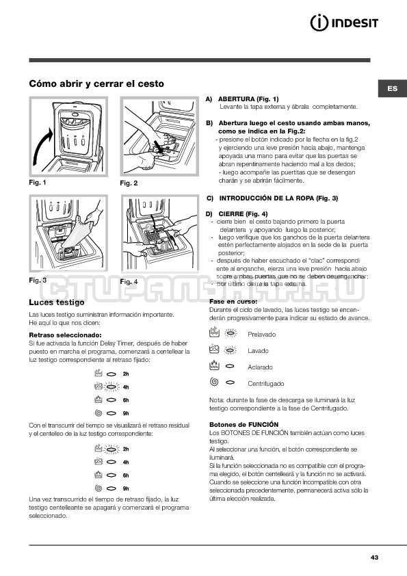 Инструкция Indesit WITXL 1051 страница №43