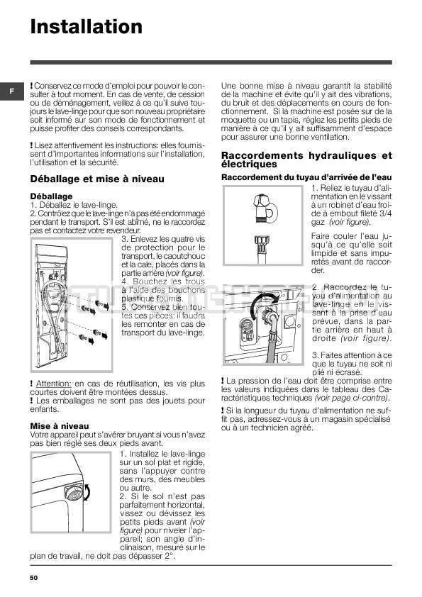 Инструкция Indesit WITXL 1051 страница №50