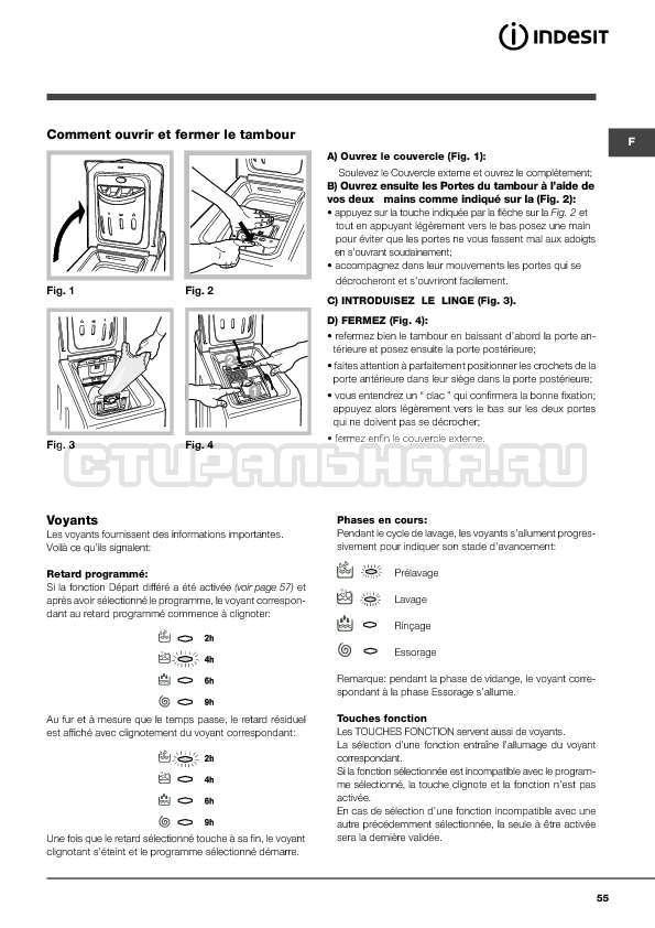 Инструкция Indesit WITXL 1051 страница №55