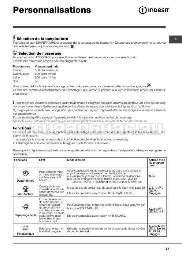 Инструкция Indesit WITXL 1051 страница №57