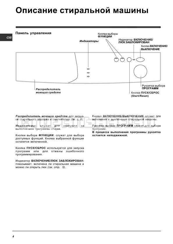 Инструкция Indesit WIUN 81 страница №4