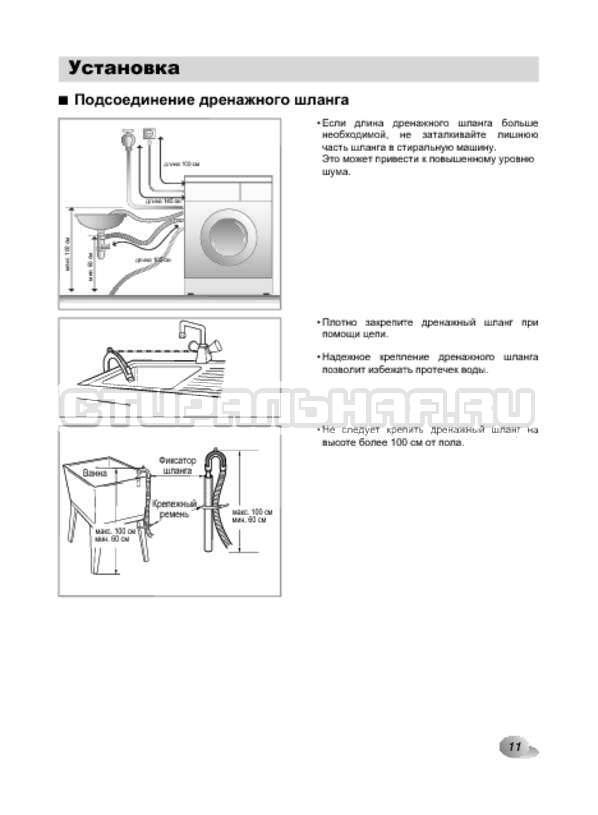 Инструкция LG F1022NDR страница №11