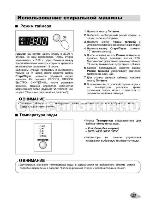 Инструкция LG F1022NDR страница №23