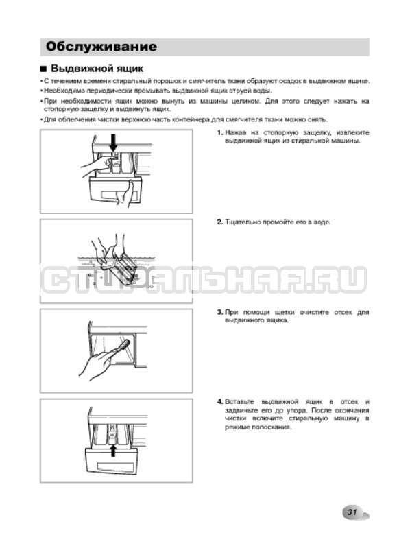 Инструкция LG F1022NDR страница №31