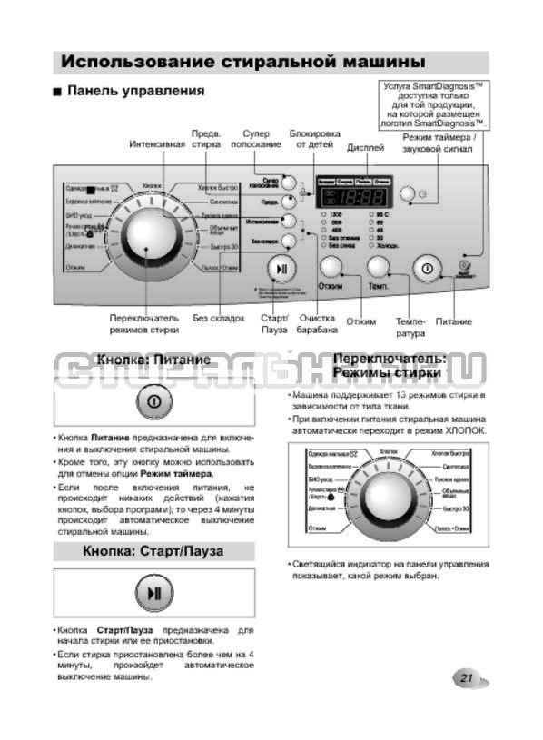 Инструкция LG F1089ND страница №21