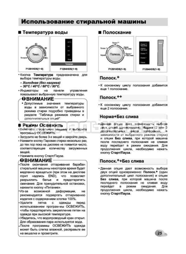 Инструкция LG F10A8HDS страница №25