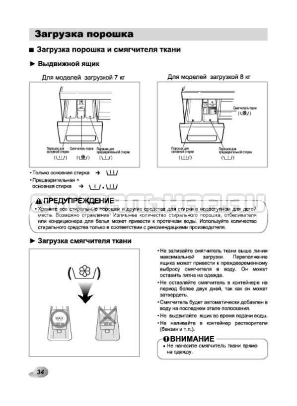 Инструкция LG F10A8HDS страница №34