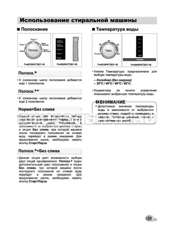 Инструкция LG F1294TD страница №25