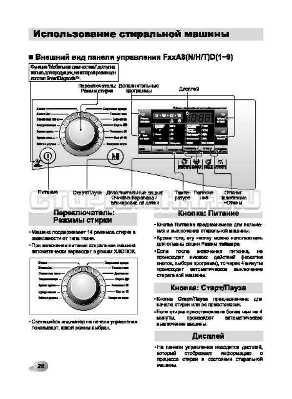 Инструкция LG F1294TD страница №28