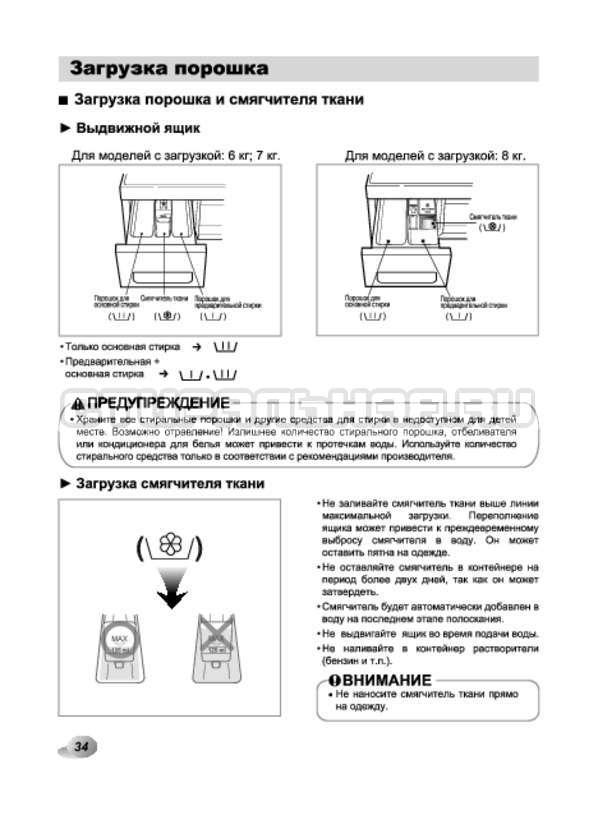 Инструкция LG F1294TD страница №34