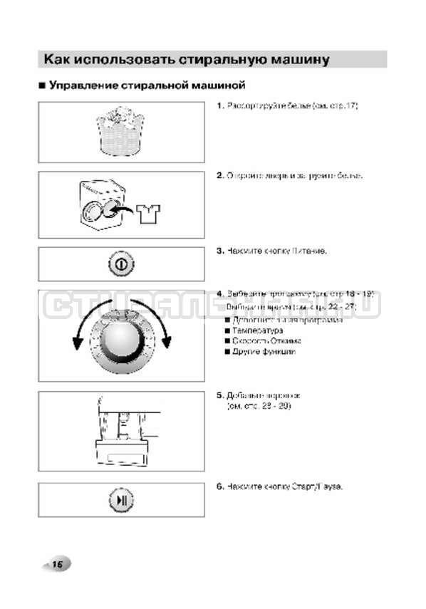 Инструкция LG F12A8CDP страница №17