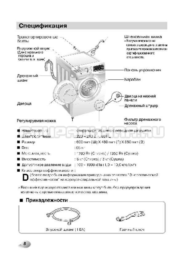 Инструкция LG F12A8CDP страница №9