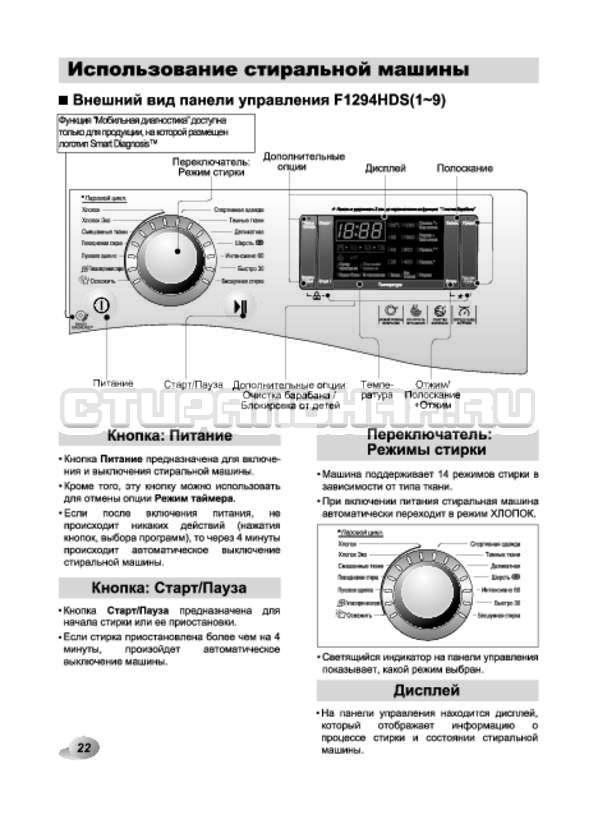 Инструкция LG F12A8HDS страница №22
