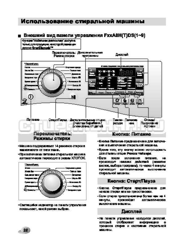 Инструкция LG F12A8HDS страница №28