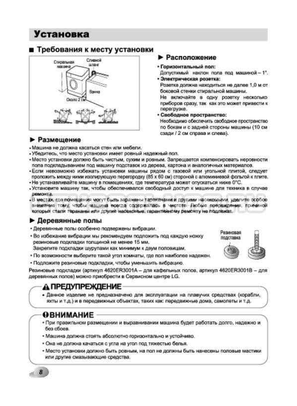 Инструкция LG F12A8HDS страница №8
