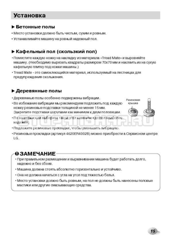 Инструкция LG F1480RDS страница №15