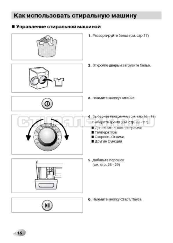 Инструкция LG F1480RDS страница №16