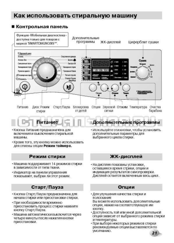 Инструкция LG F1480RDS страница №21