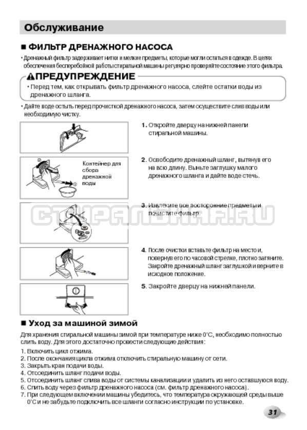 Инструкция LG F1480RDS страница №31