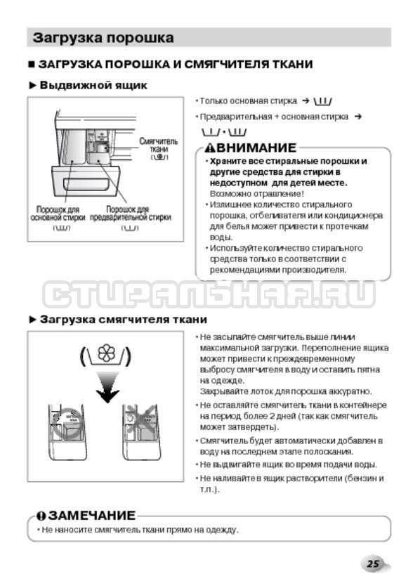 Инструкция LG F1495BDS страница №25