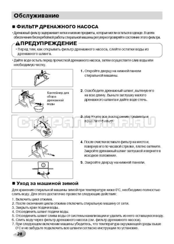 Инструкция LG F1495BDS страница №28