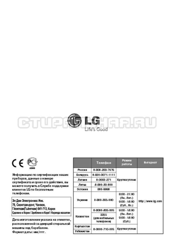 Инструкция LG F1495BDS страница №36