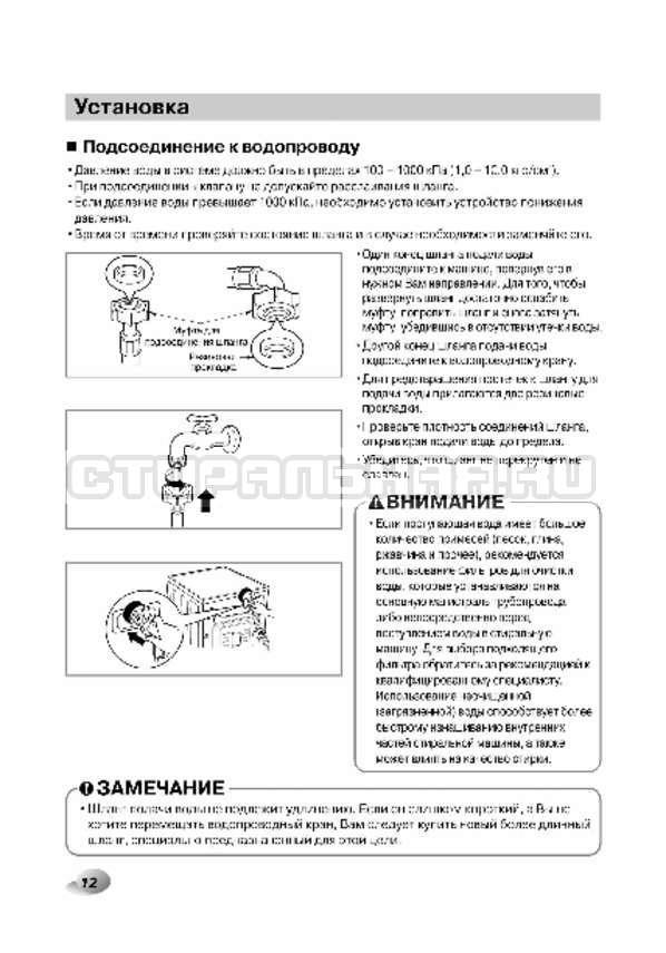 Инструкция LG F1496AD3 страница №12