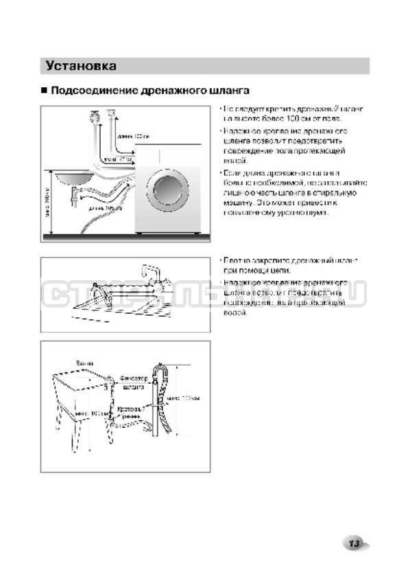 Инструкция LG F1496AD3 страница №13