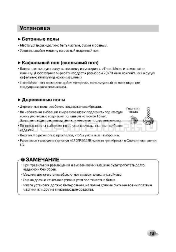 Инструкция LG F1496AD3 страница №15