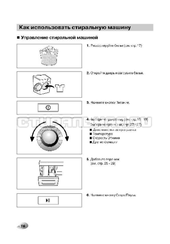 Инструкция LG F1496AD3 страница №16