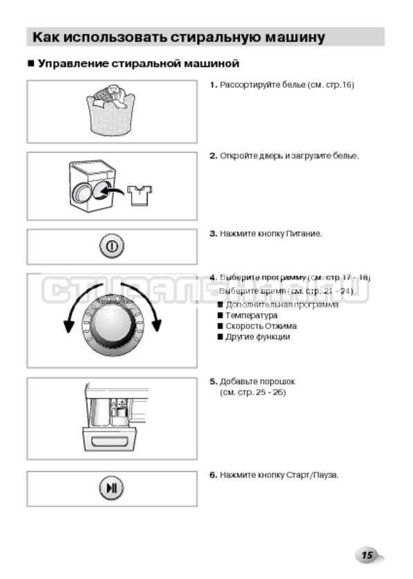 Инструкция LG F14B3PDS страница №15