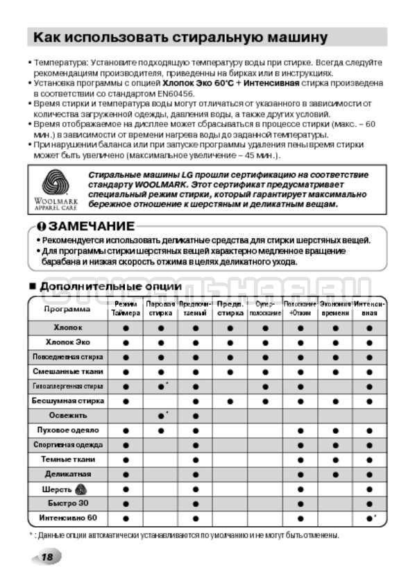 Инструкция LG F14B3PDS страница №18