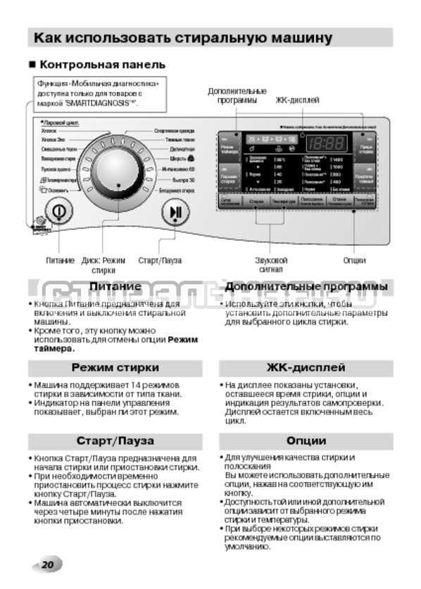 Инструкция LG F14B3PDS страница №20