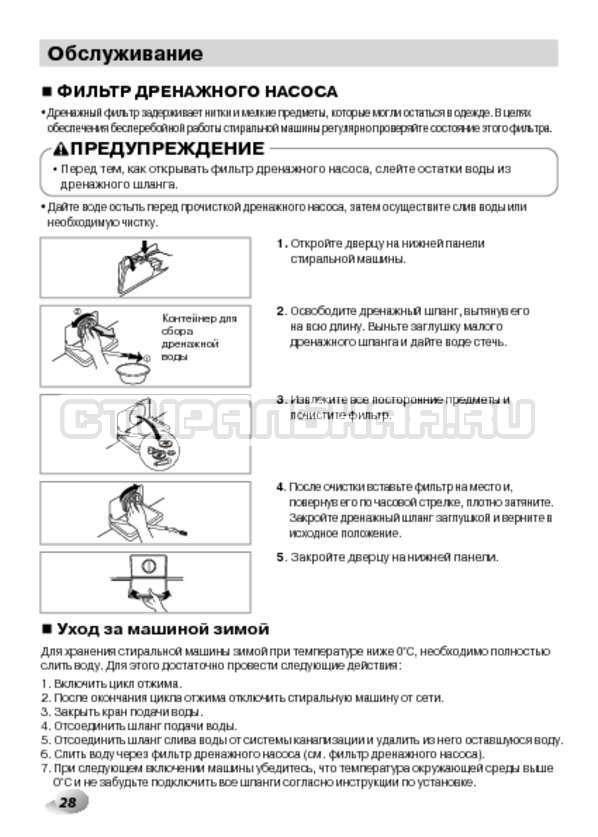 Инструкция LG F14B3PDS страница №28